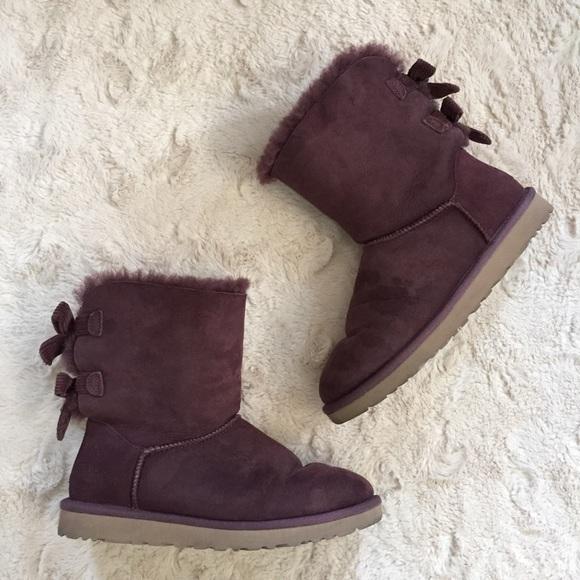 2c830c1e8d0 UGG 8 Purple #1005532 Bailey Bow Corduroy Boots
